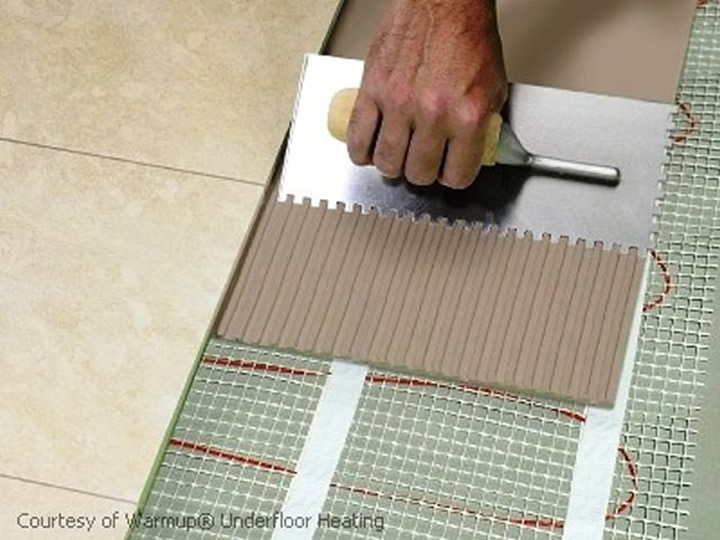 Laying Tiles on Underfloor heating