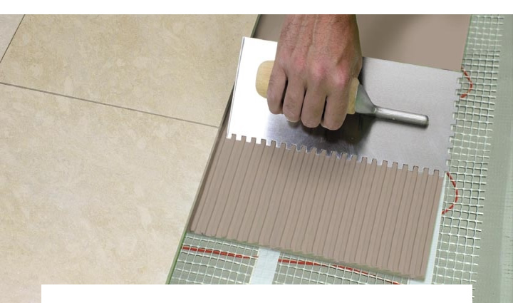 Laying Under floor heating